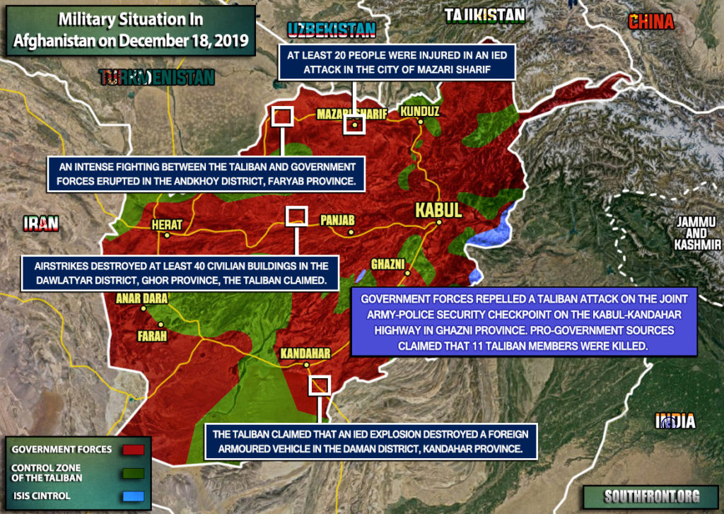 Military Situation In Afghanistan On December 18, 2019 (Map Update)