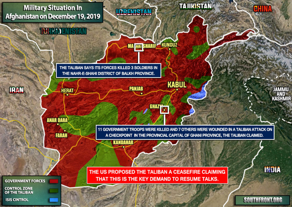 Military Situation In Afghanistan On December 19, 2019 (Map Update)