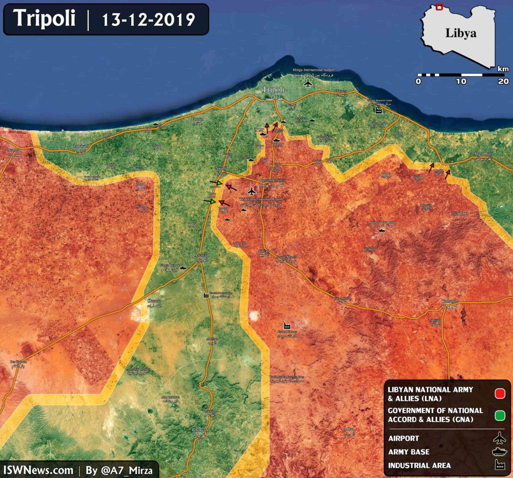 In Maps: Libyan National Army's Aadvance On Tripoli