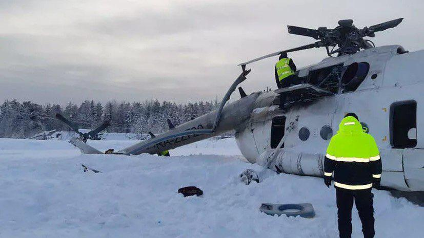 In Photos: Mi-8 Helicopter Made Hard Landing In Siberia