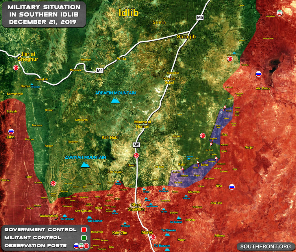 Map Update: Syrian Army's Gains In Southern Idlib Since Start Of Recent Advance