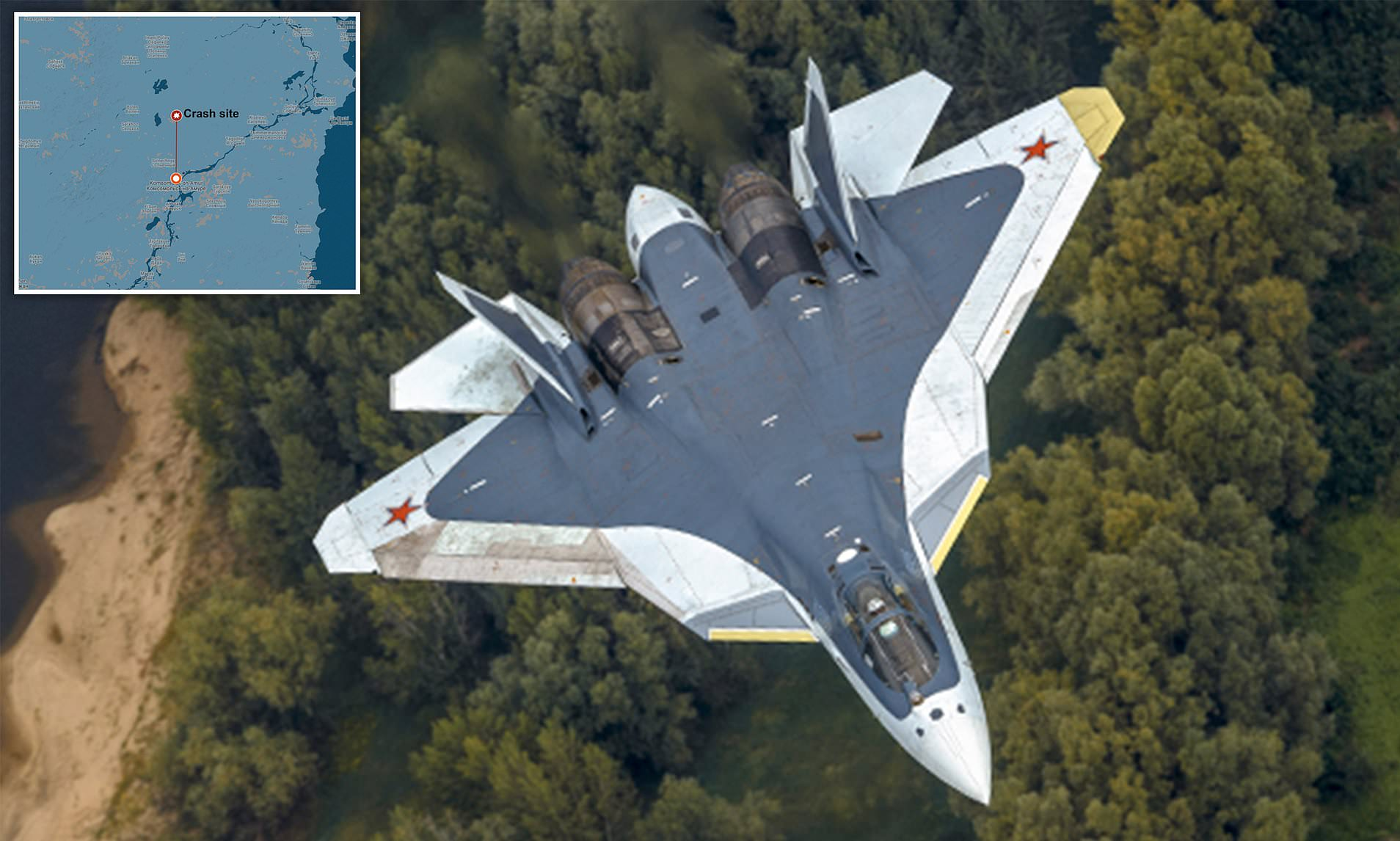 Crashed Su-57 Was First Serially Produced Aircraft To Be Delivered to Russian Aerospace Forces