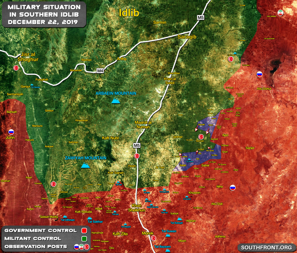 Map Update: Syrian Army's Advance In Southern Idlib During Last 24 Hours