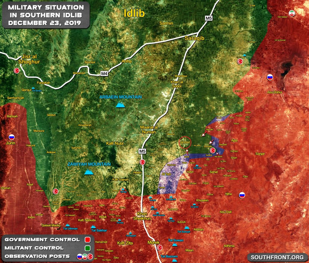 Government Forces Advancing On Militant Stronghold Of Jarjanaz In Southern Idlib (Map Update)