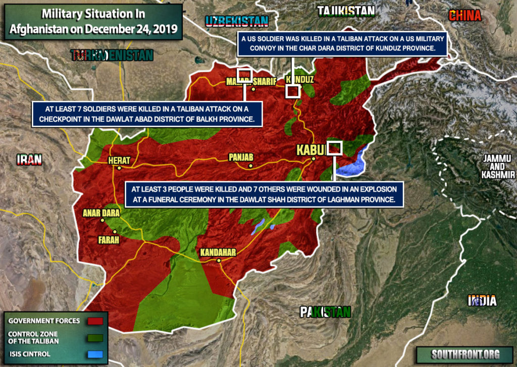 Military Situation In Afghanistan On December 24, 2019 (Map Update)