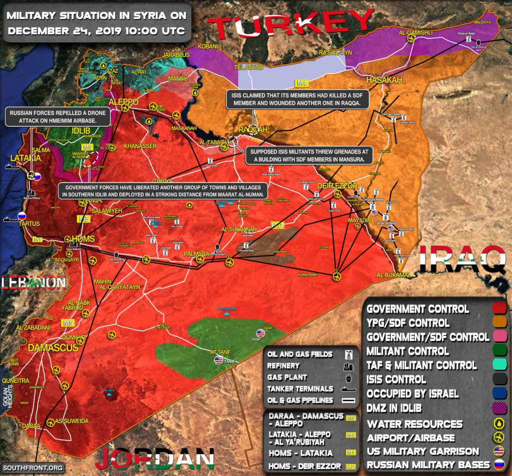 Military Situation In Syria On December 24, 2019 (Map Update)