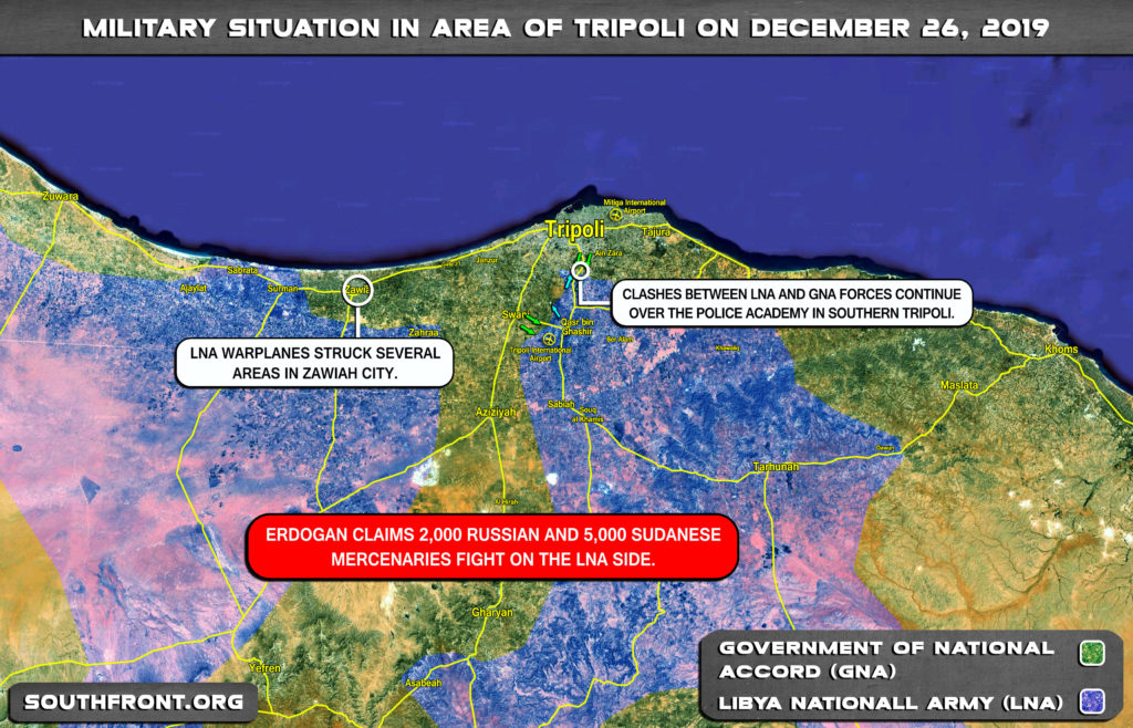 Military Situation In Libya's Tripoli On December 26, 2019 (Map Update)