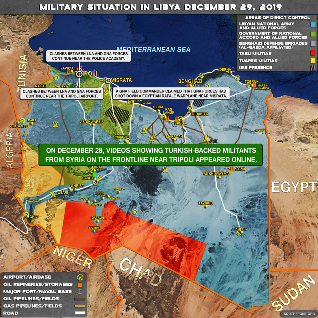 Military Situation In Libya On December 29, 2019 (Map Update)