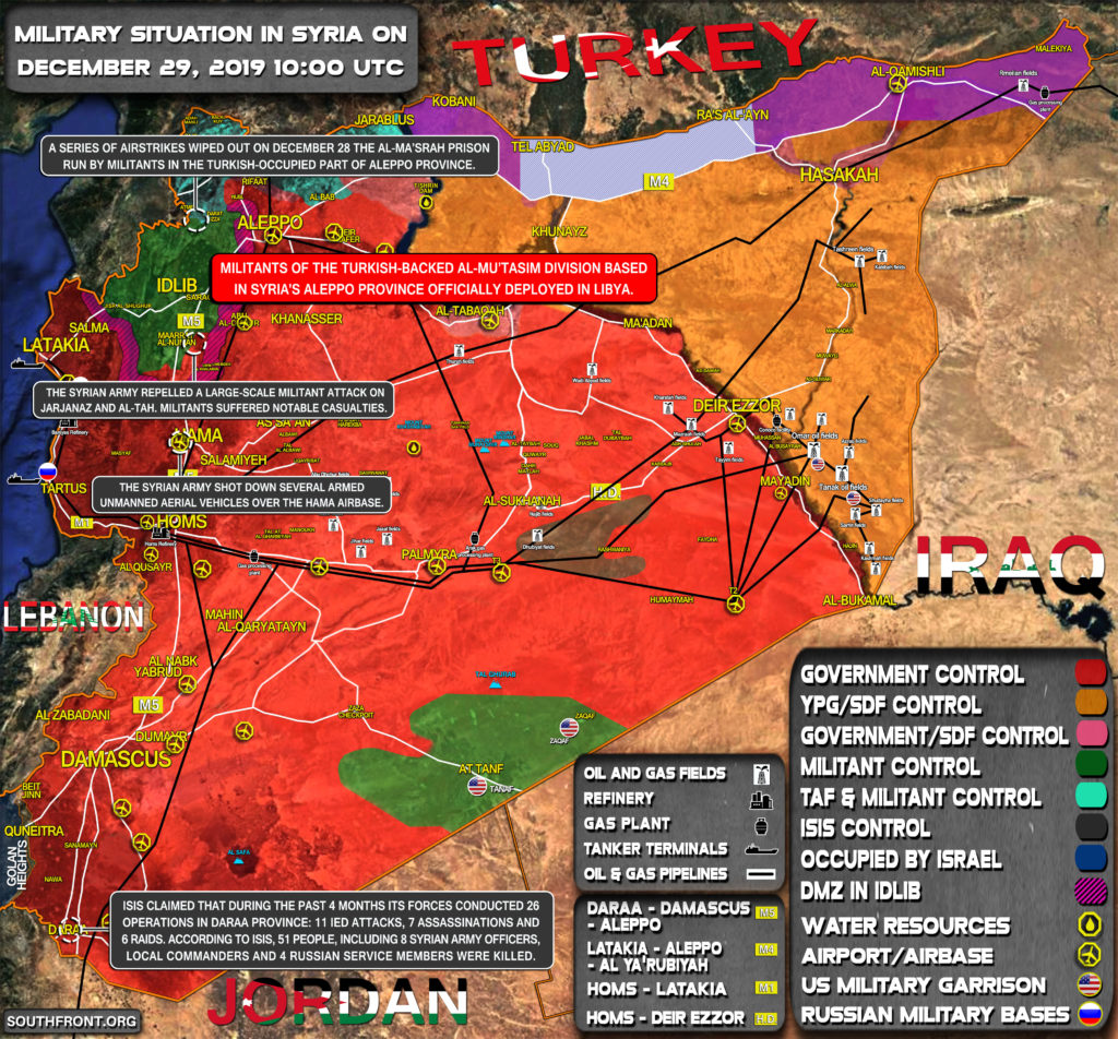 Military Situation In Syria On December 29, 2019 (Map Update)