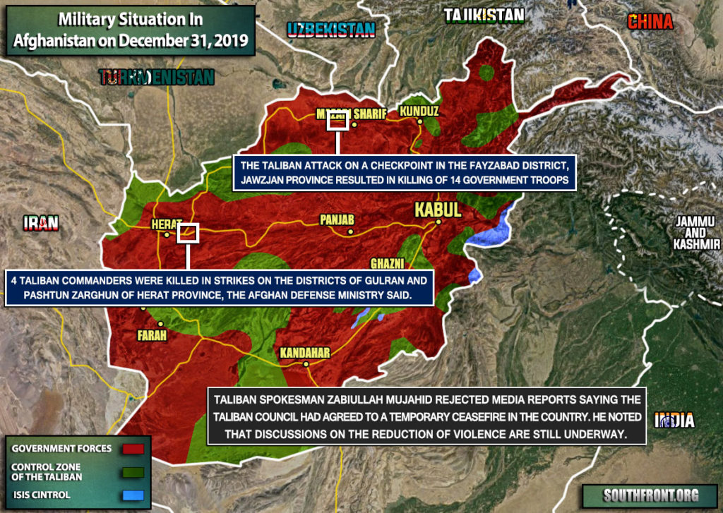 Military Situation In Afghanistan On December 31, 2019 (Map Update)