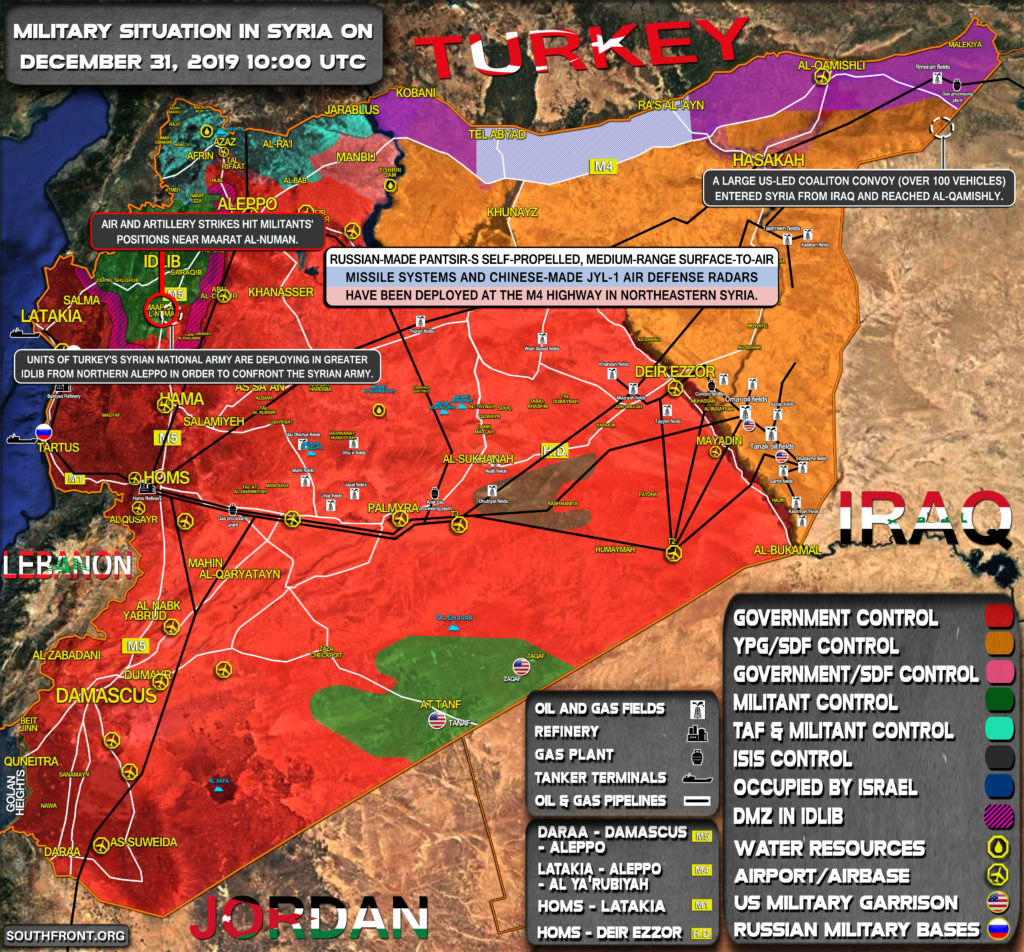 Military Situation In Syria On December 31, 2019 (Map Update)