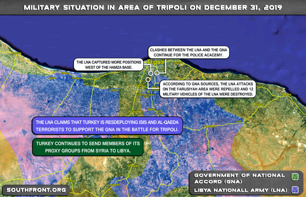 Military Situation In Libya's Tripoli On December 31, 2019 (Map Update)