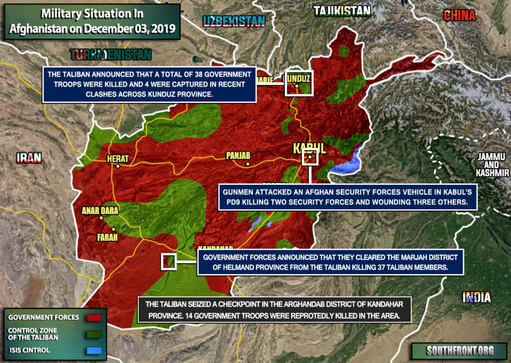 Military Situation In Afghanistan On December 3, 2019 (Map Update)