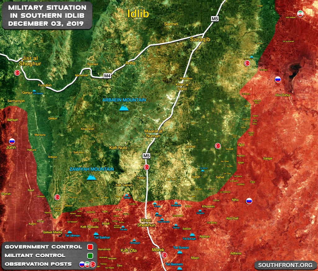 Map Update: Military Situation In Southern Idlib On December 4, 2019