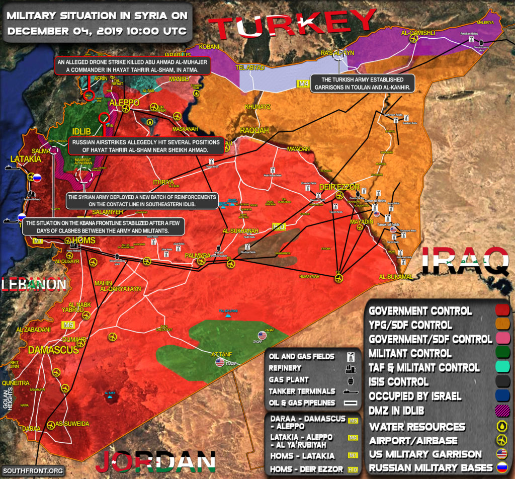 Military Situation In Syria On December 4, 2019 (Map Update)