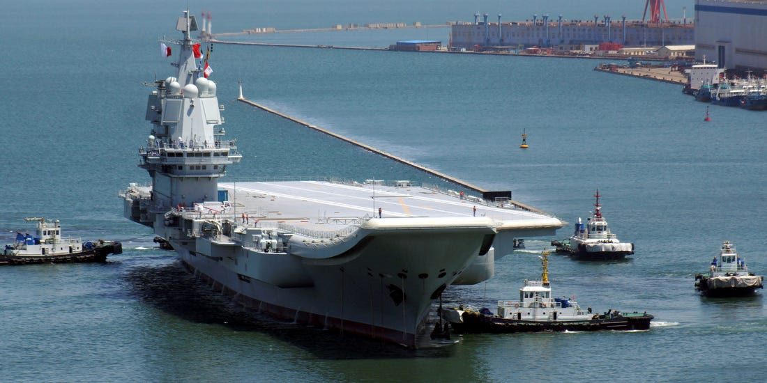 China Commissions It's First Domestically-Built Aircraft Carrier - the Shandong