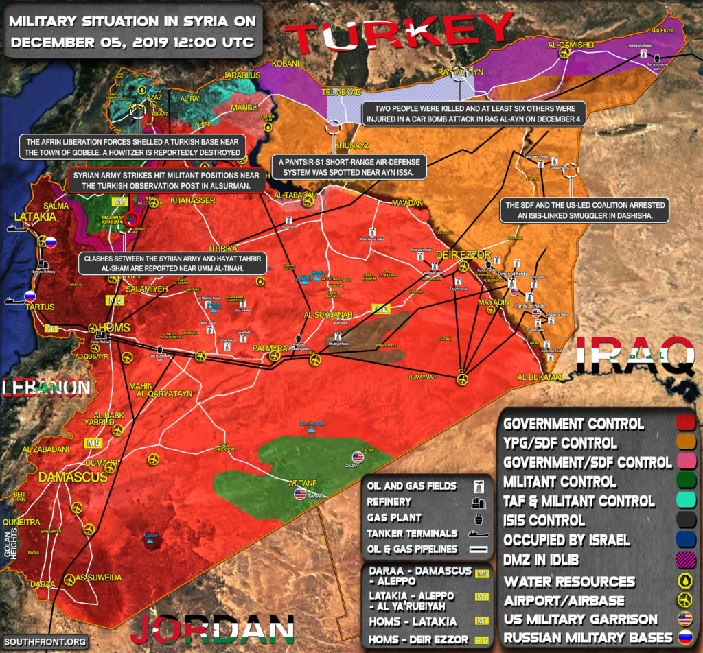 Military Situation In Syria On December 5, 2019 (Map Update)