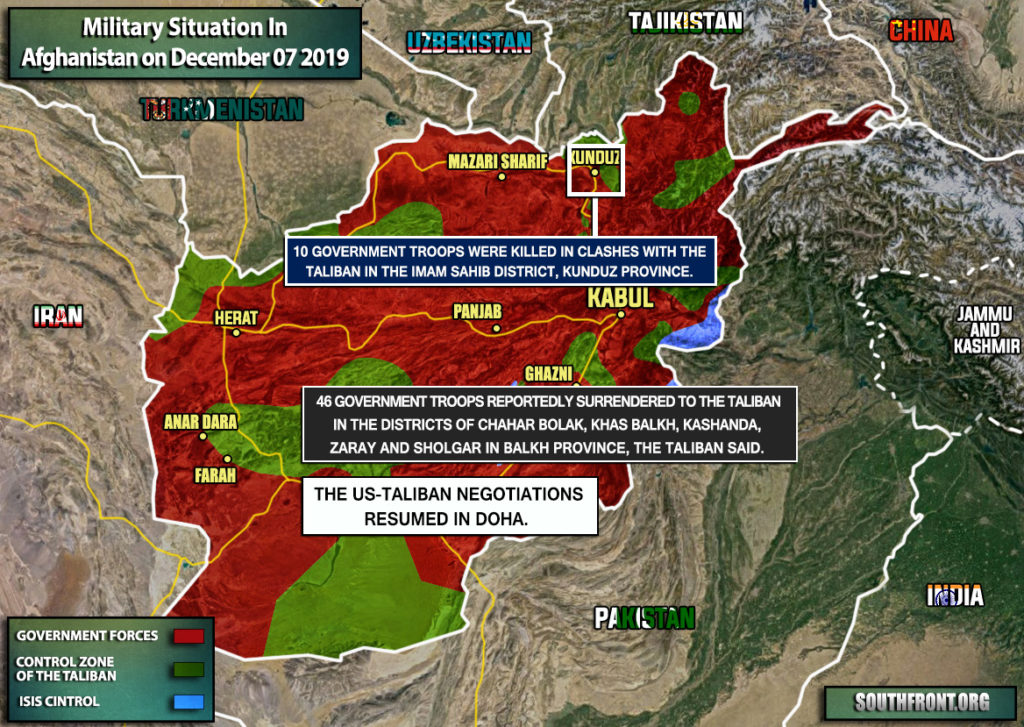 Military Situation In Afghanistan On December 7, 2019 (Map Update)