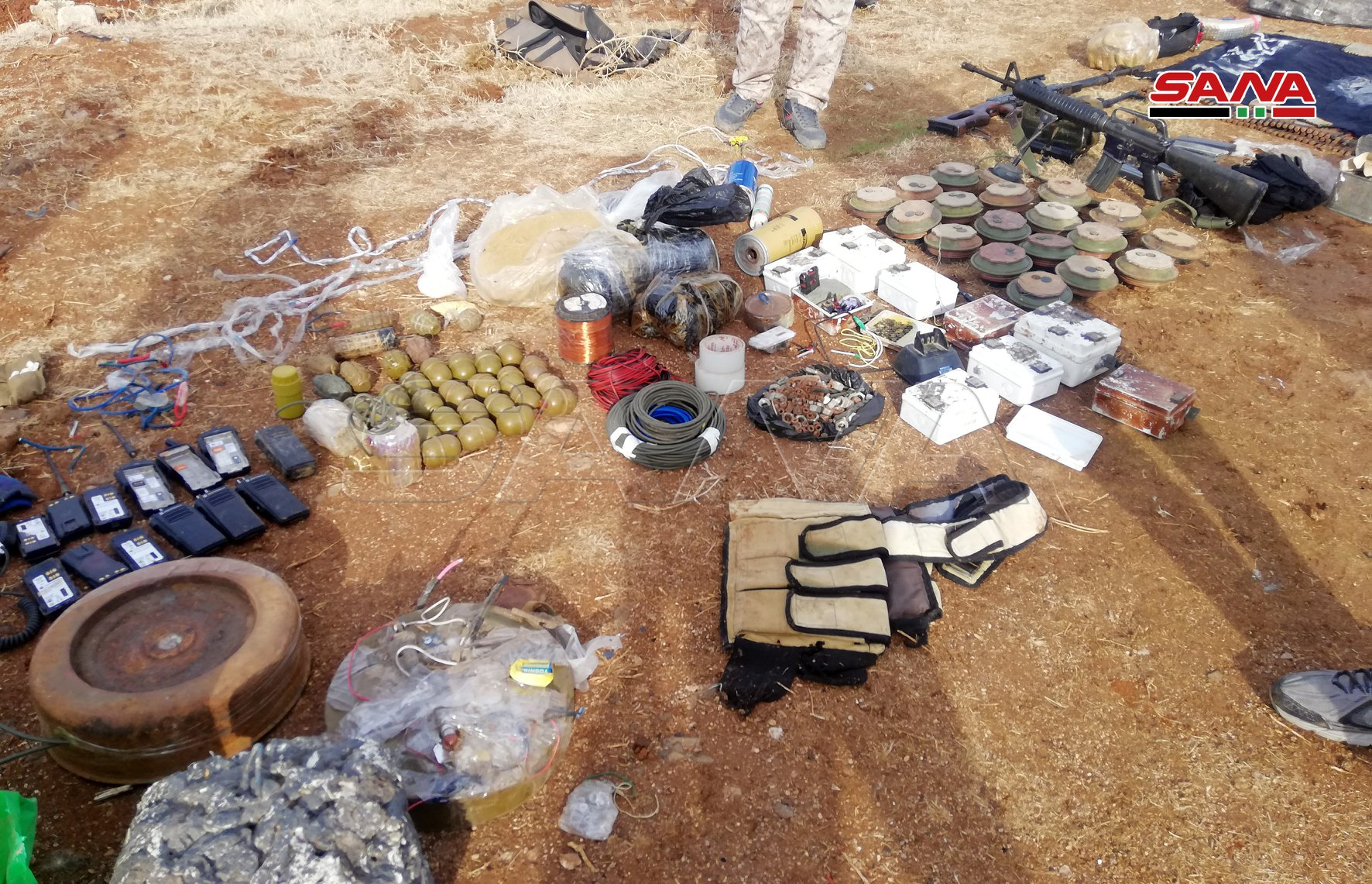 Syrian Army Uncovers Weapons, Car Bomb In Eastern Daraa (Photos)