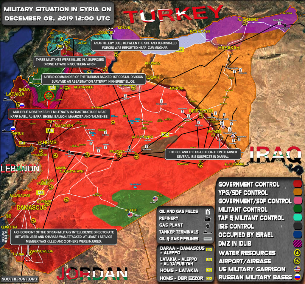 Military Situation In Syria On December 8, 2019 (Map Update)