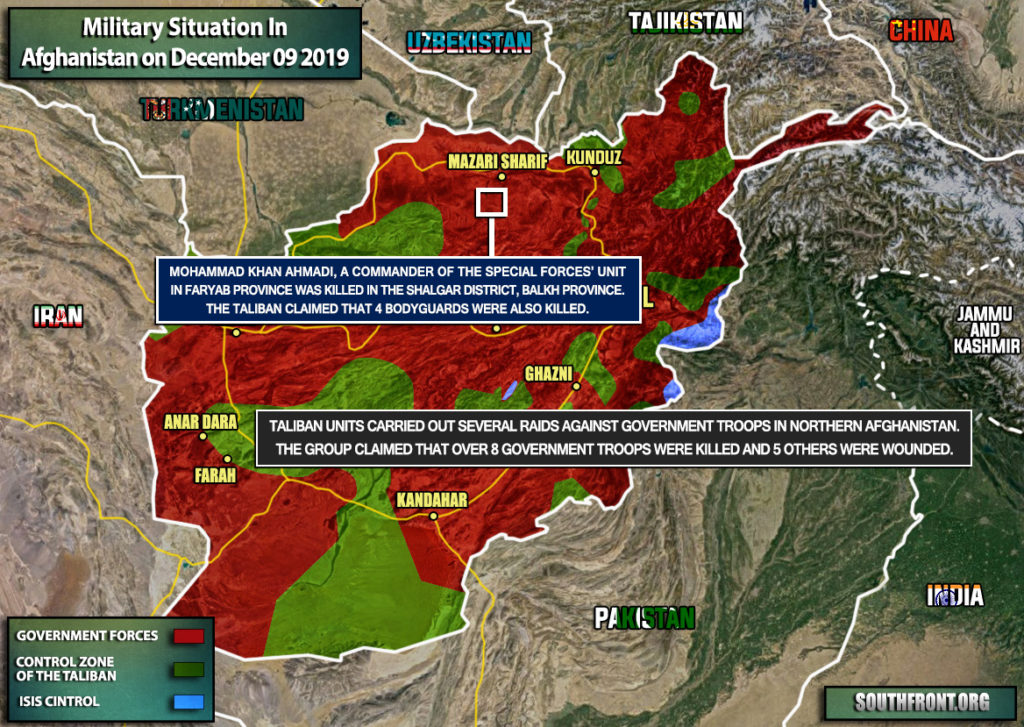 Military Situation In Afghanistan On December 9, 2019 (Map Update)