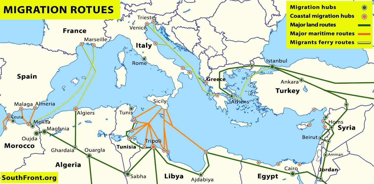 Map Update: Main Illegal Migration Routes From Africa ...