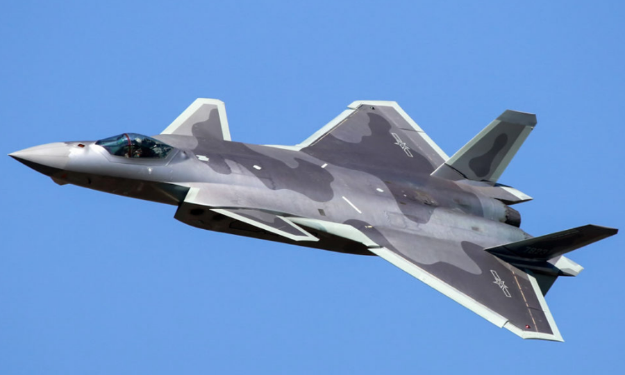 Chengdu J-20 Tactical Fighter Of Air Force Of Chinese People's Liberation Army