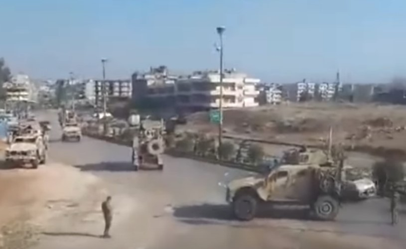 In Video: Syrian Army Blocked US Military Convoy Near Qamishli Airport