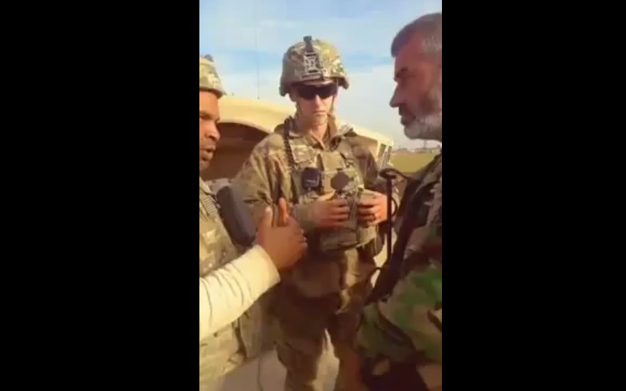 Syrian Troops Confront US Military Convoy Near Tell Tamr (Video)