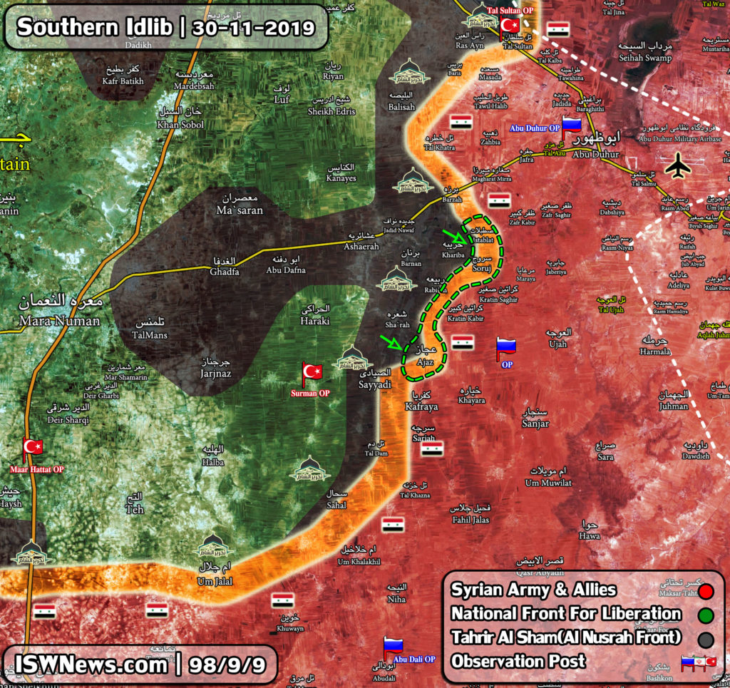 Map Update: Military Situation In Southeastern Idlib Following Recent Gains By Militant Groups