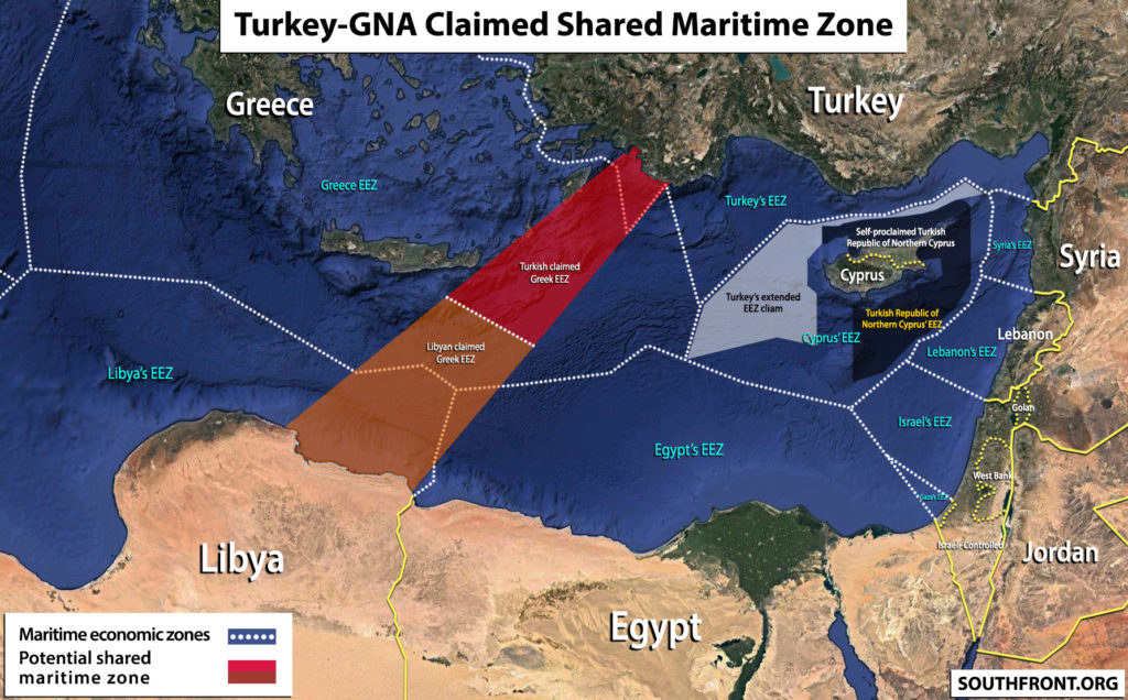 Map Update: Turkey-GNA Claimed Shared Maritime Zone In Eastern Mediterranean