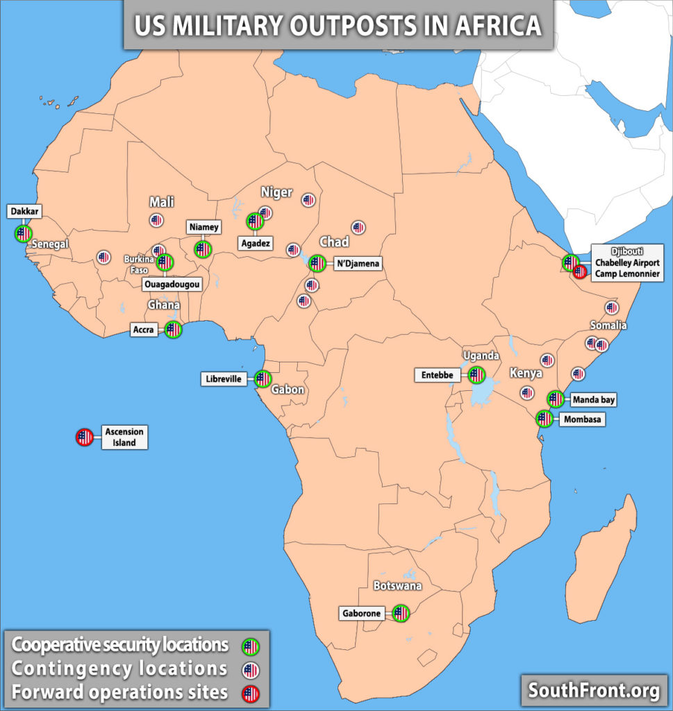 US Military Outposts In Africa (Map Update)