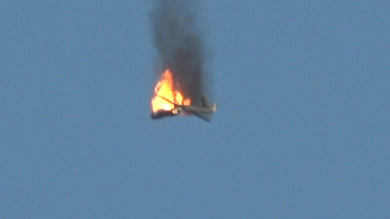 Houthis Shot Down Saudi-led Coalition CH-4 Combat Drone Over Ma'rib