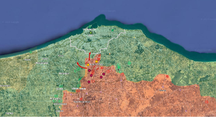Libyan Army advances Towards Tripoli From Two Directions