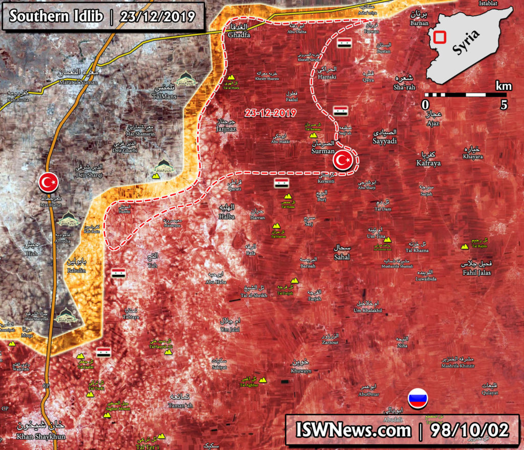 Military Situation In Southern Idlib After Liberation Of Jarjnaz And Nearby Areas (Map Update)