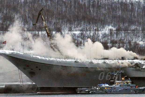 Repars Of Russia's Admiral Kuznetsov After Fire Incident Will Cost $1.5 billion: Reports