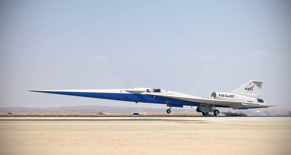 NASA's X-59 Quiet Supersonic Jet Approved For Construction