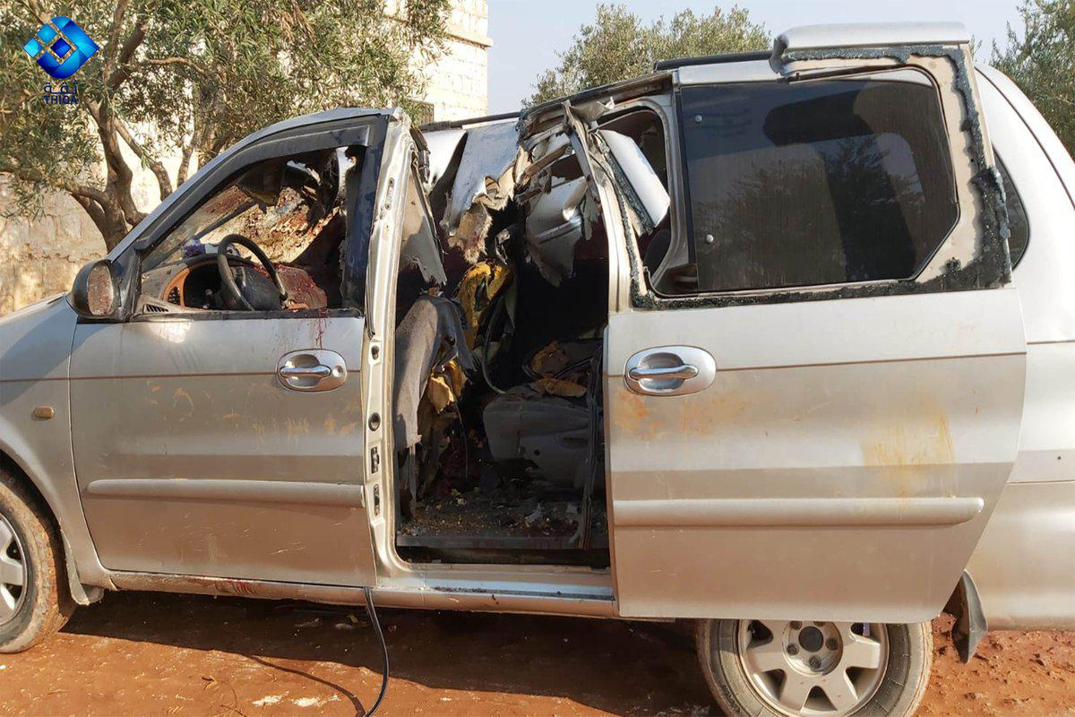"Suspected ""Ninja Bomb"" Strike Eliminates Senior Horas Al-Din Commander In Northern Idlib (Photos)"