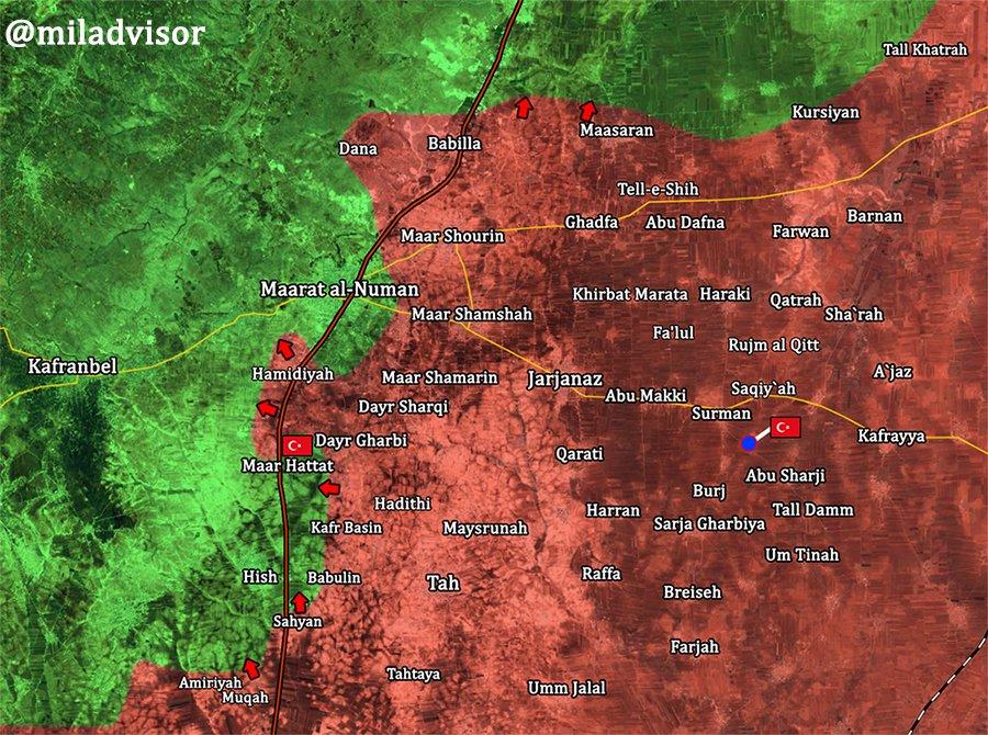 Radikáli' Obrany V Juhovýchodnej Idlib Sa Zrútil. Maarat Al-Numan Je Na Pokraji Pádu