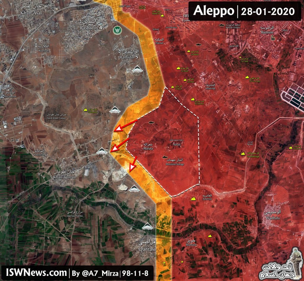 Government Forces Continue Advancing In Southern Idlib, Western Aleppo After Liberation Of Maarat Al-Numan