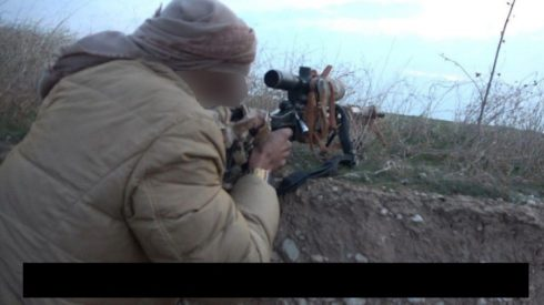 In Photo: ISIS Militant Uses Russian-made ORSIS T-5000 Sniper Rifle Against Iraqi Forces