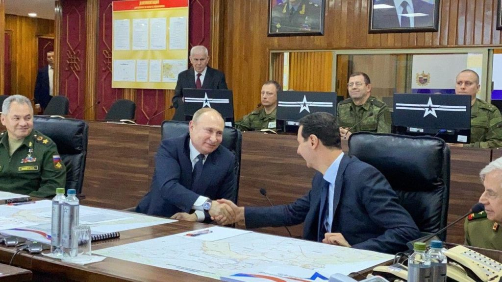 Putin & Top Russian Generals Are On Visit To Syria, Held Talks With Assad (Photos)