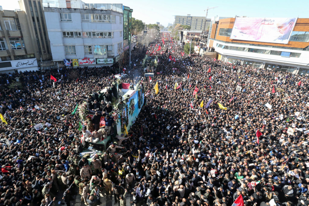 Burial of slain Iranian general Soleimani delayed due to huge crowds, STAMPEDE kills 40 – state media