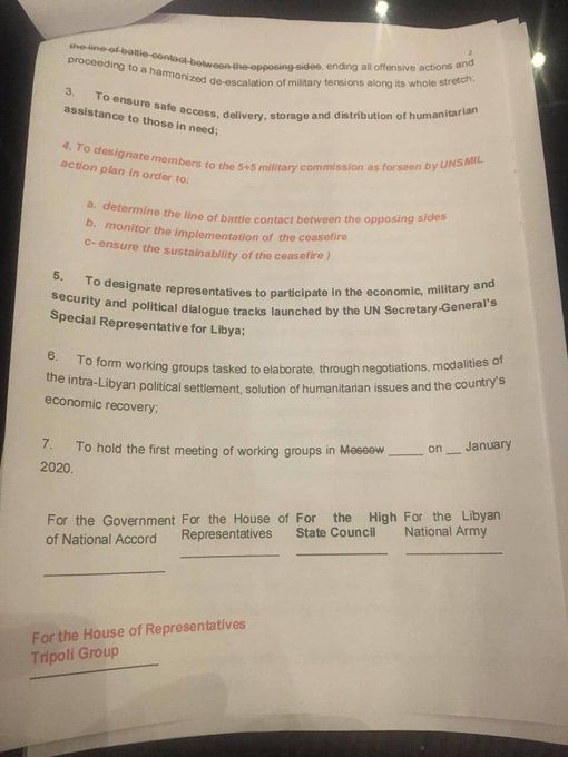 Government Of National Accord Leaks Supposed Text Of Ceasefire Deal With Libyan National Army