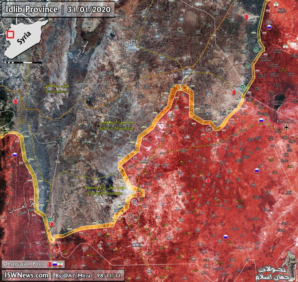 Vojenská Situácia V Juhovýchodnej Idlib Na 31. Januára 2020 (Aktualizácia Máp)