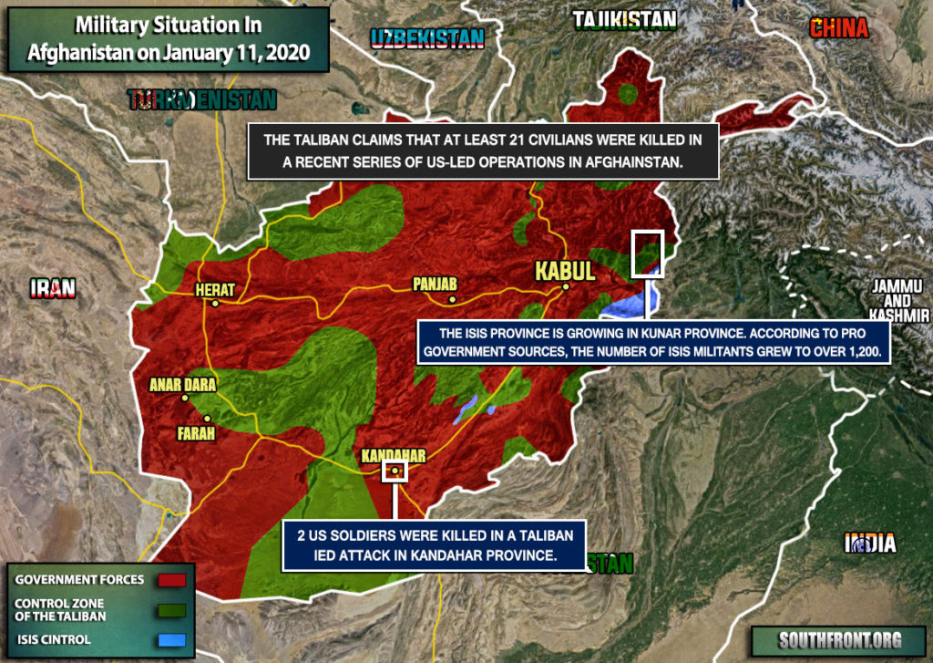 Military Situation In Afghanistan On January 11, 2020 (Map Update)