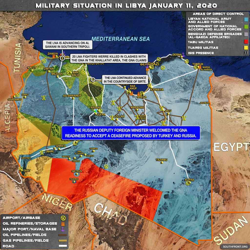 Military Situation In Libya On January 11, 2020 (Map Update)
