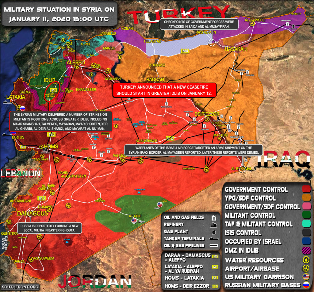 Military Situation In Syria On January 11, 2020 (Map Update)