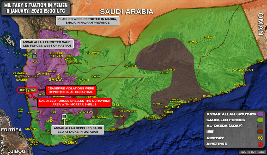Military Situation In Yemen On January 11, 2020 (Map Update)