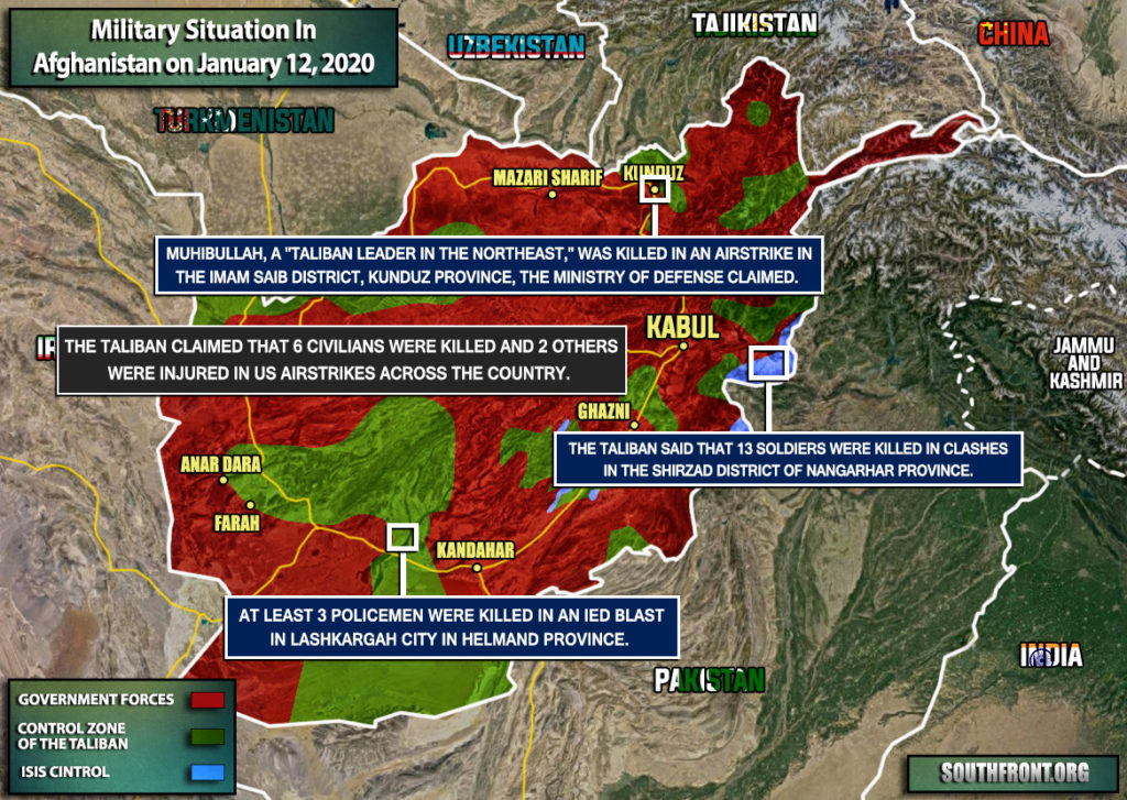 Military Situation In Afghanistan On January 12, 2020 (Map Update)